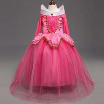 Fairy Tale Princess A-Line Dress for Girls in Pink