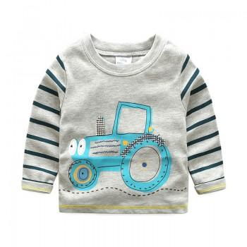 Fun Tractor Long-Sleeve Tee / Top for Baby & Boys