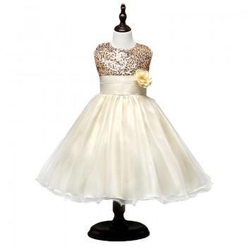 Glittery Sequin High Waist Tutu Princess Dress for Girls