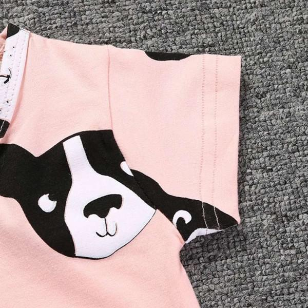 Cute Dogs Short-Sleeve Romper for Baby girl