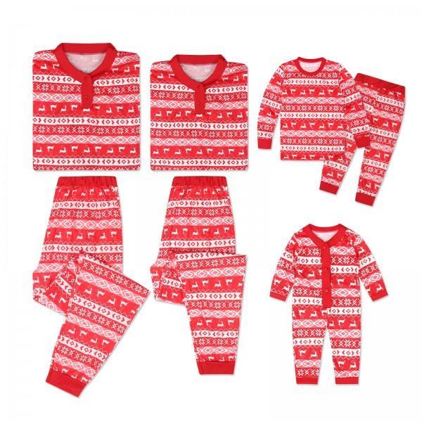 Festival Pattern Long-sleeve Pajamas/Set Family Matching