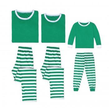 7a5cf003e2 Family Matching Classic Stripes Long sleeve Top and Pants Pajamas Set