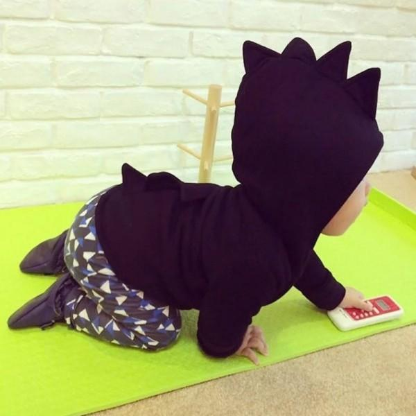 Wonderful Dinosaur Hooded Jacket for Toddlers and Kids