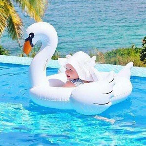 White Swan Ride On Swimming Pool Float Raft For Kids Patpat