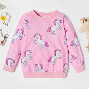 Trendy Unicorn Allover Print Sweatshirt