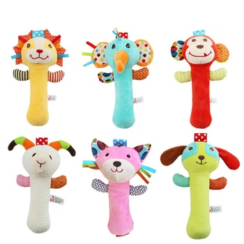 Baby Rattle Toys Soft Activity Crib Stroller Toys Animal Shape for Toddlers Baby Girls Baby Boys
