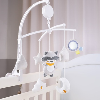 Cartoon Baby Bed Bell Crib Rattles Music Educational Infant Baby Toys
