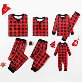 Classic Christmas Plaid Family Matching Pajamas Sets