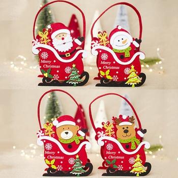 Christmas Santa Claus Snowman Gift Storage Basket