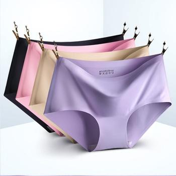 casual Solid Underwear Lady Brief