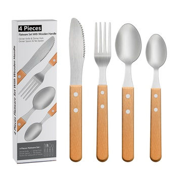 4-pcs Stainless Steel Portugal Cutlery Knife Fork Spoon