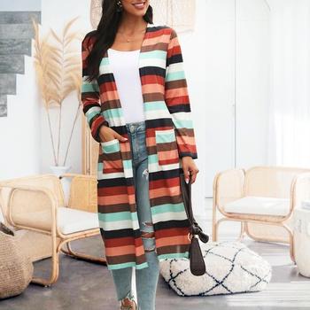 casual Stripes medium length Coats