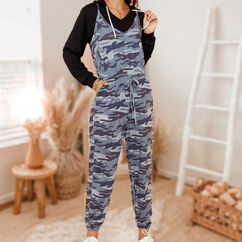 Camouflage casual jumpsuit