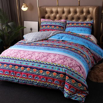 Bohemia Printed Quilts Warm Air-conditioned Comforter Queen Size Colcha Duvets Single Bed