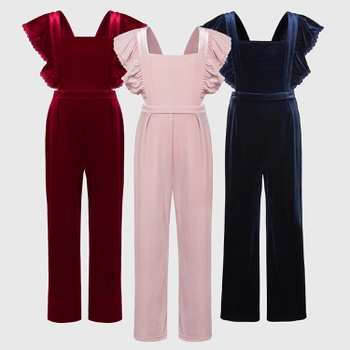 Kid Girl Solid Romper