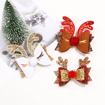 Christmas Antler Hairpin Bow Hairpin