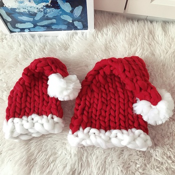 Hand-knitted Christmas Hats for Family