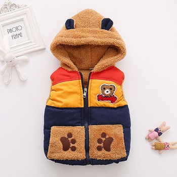 Baby Boy casual Animal & Raccoon Coat & Jacket Cotton Hooded Vest Fashion Sleeveless Infant Clothing Outfits