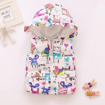 Baby Girl casual Coat & Jacket Hooded Vest Fashion Sleeveless Infant Clothing Outfits
