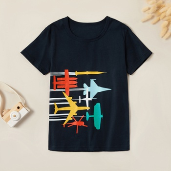 Trendy Airplanes Race Print Tee