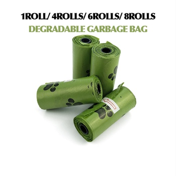 Degradable poop picking bag