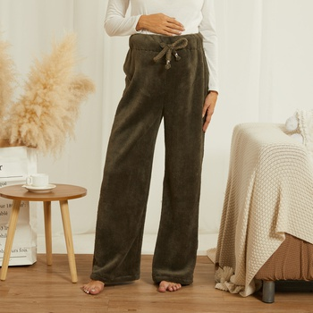 Teddy fuzz maternity home brace trousers