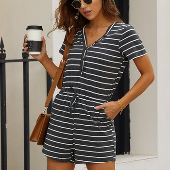 Stripes casual jumpsuit