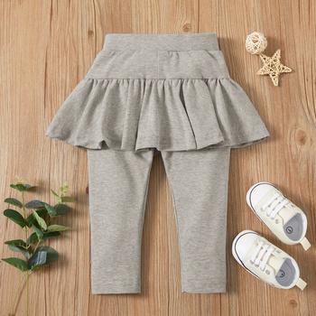 1pc Baby Girl casual straight Casual Pants & Sweatpants & Harem Pants