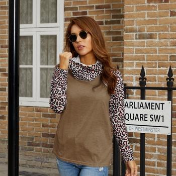 Pile collar Positioning print long sleeve medium length Pullover