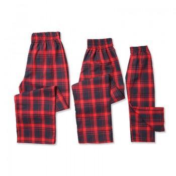 Red Plaid Matching Family Pajamas Pants