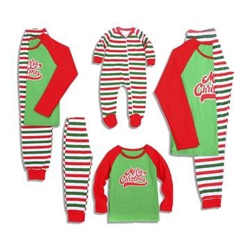 a8a3679b87 Merry Christmas Striped Family Matching Pajamas