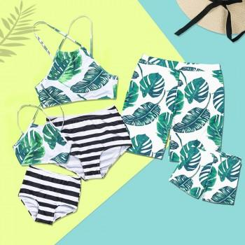 Breezy Palm Leaf Charm Family Matching Swimsuit