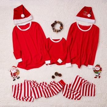 58058dfd60 familia a juego rayas clásicas top de manga larga y pantalones pijamas Set
