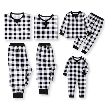 dafd787c6fdc Classic Plaid Pattern Family Christmas Pajamas