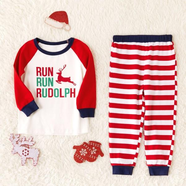 Christmas Deer Printed Family Matching Pajamas Set