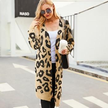 Oversize Leopard Knit Sweater