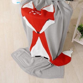 1 Pcs Knit Fox Blanket