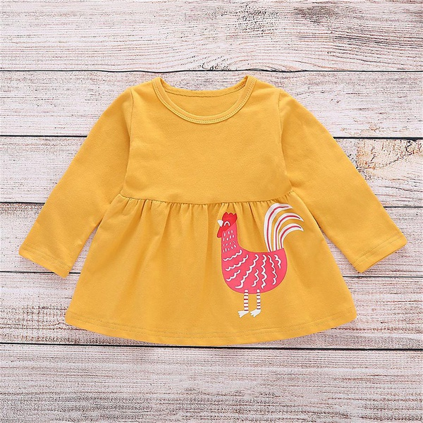 3 Pcs Unique Rooster Print Outfit in Orange