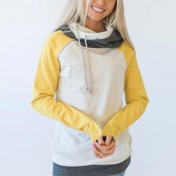 New Autumn Hoodie Pocket Drawstring Sweatshirt For women