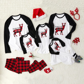 f7286df0d300 Santa's Deer Christmas Family Pajamas