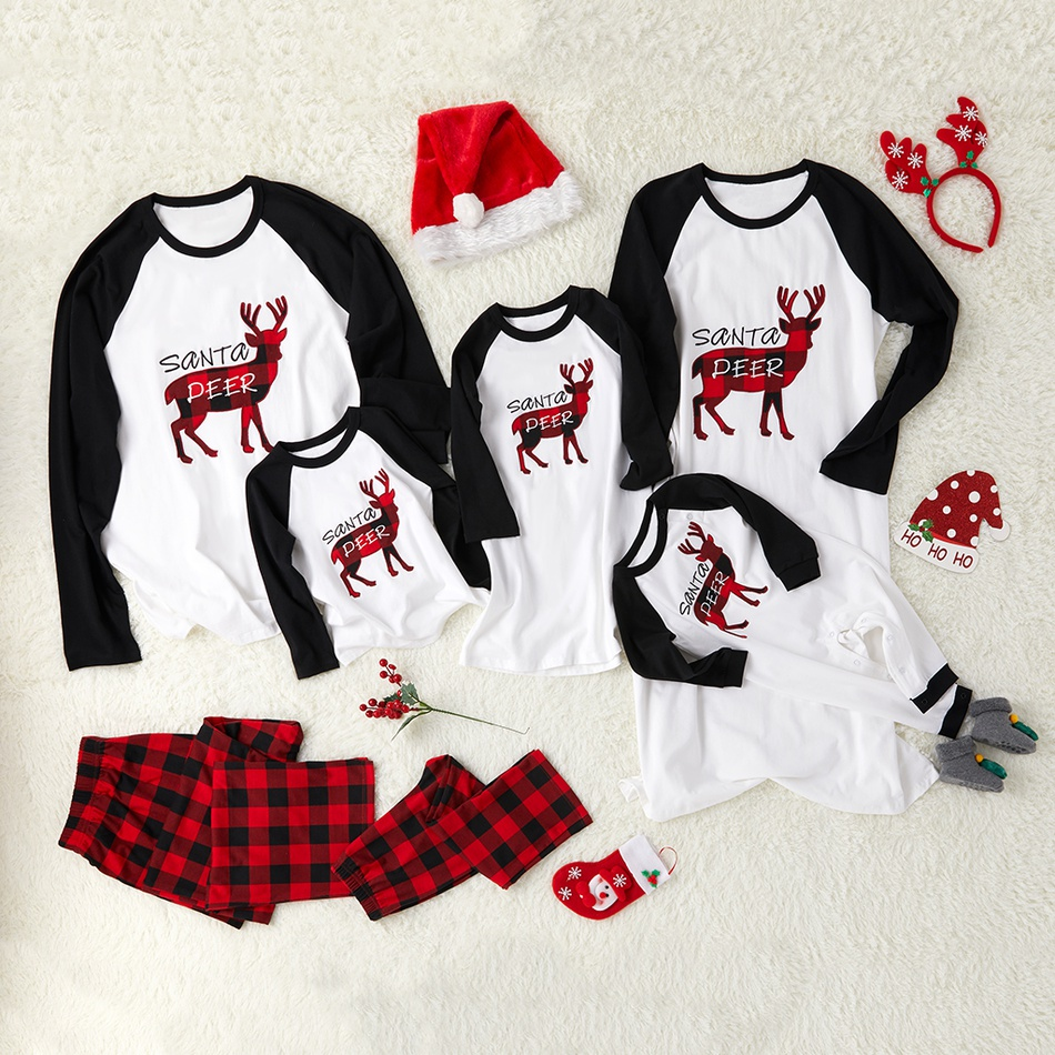 Santa s Deer Christmas Family Pajamas at PatPat.com 430be9c71