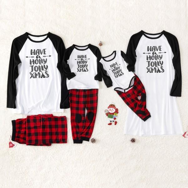 Classic Red Plaid Christmas Pajamas Family Matching Set
