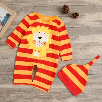 16deb07e9c62cd Striped Lion Jumpsuit with Hat