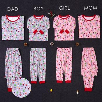 Lovely Santa Printed Family Pajamas for Christmas