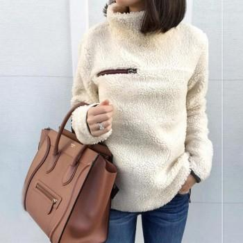 Simple Warm Plush Pullover