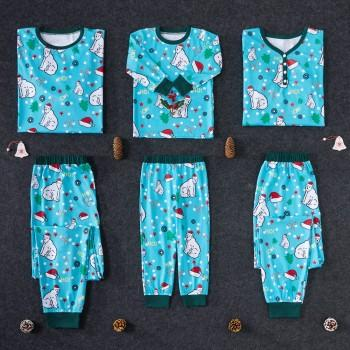 Comfortable Bear Family Pajamas Set