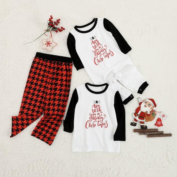 2-piece 'We Wish You a Merry Christmas' Printed Pajamas for Family