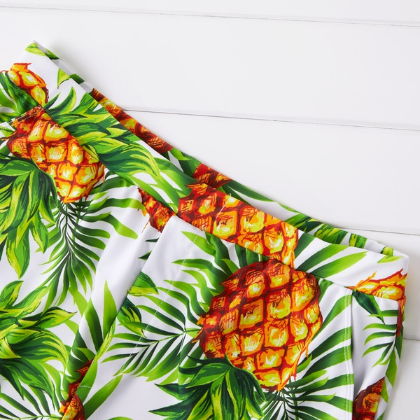 Summer Pineapple Print Family Swimsuits