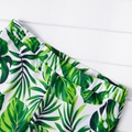 Emerald Leaf Print Family Swimsuits