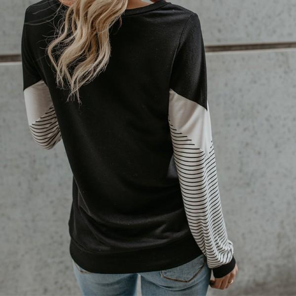 Stylish Stripe Long-sleeve Tee